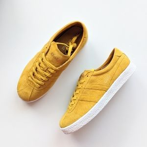 Gola Shoes - Gola Trainer Suede Yellow/White Women's 6
